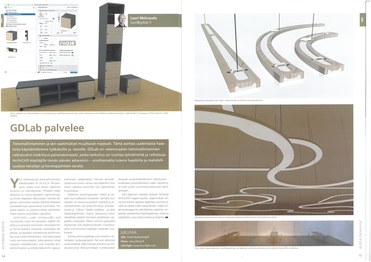 Oliver Walter, adaptive luminaire system, ArchiMAD