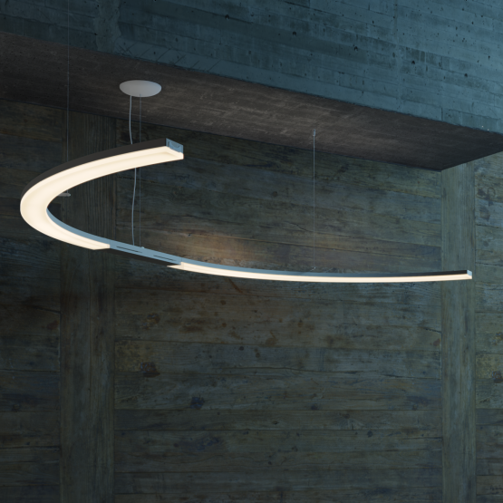Luo-light S- shape with diffuserr